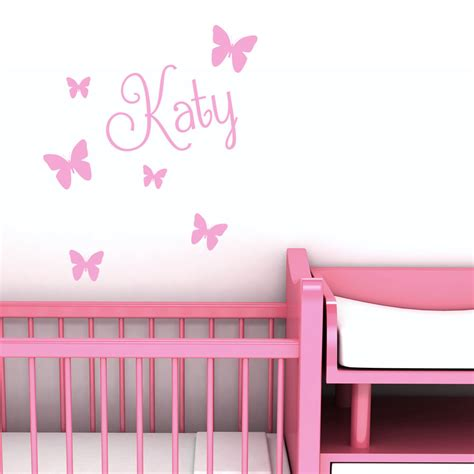 girls bedroom wall decor personalised name butterfly wall art custom girls bedroom