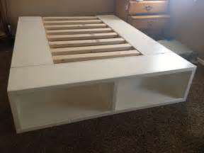 Diy Bed Frame With Storage Queen Happy Huntsman Diy Storage Bed
