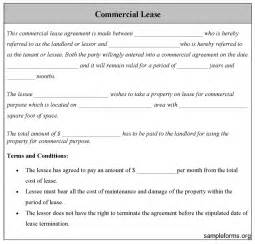 commercial lease form sample commercial lease form