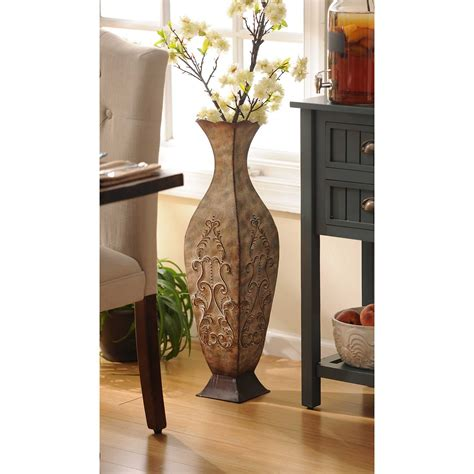 Distressed Floor Vase - distressed metal floor vase kirklands