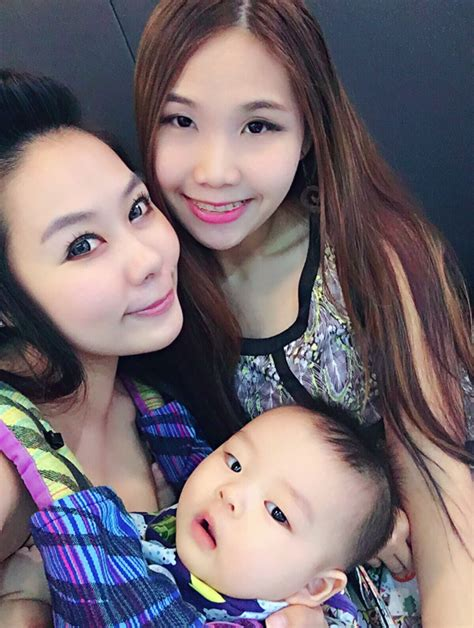 jie mei bringing baby along ribbons rainbows and pixiedust sg