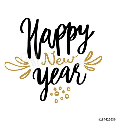 happy new year calligraphy buy this stock vector and