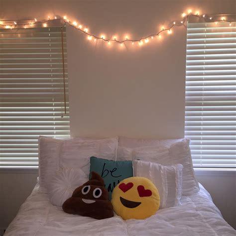 emoji room cute emoji fairy lights pillows room tumblr image