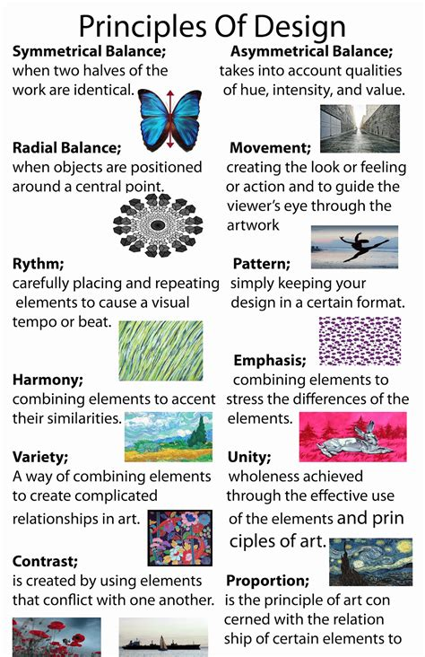 design elements and principles poster jesinda s blog principles of design poster