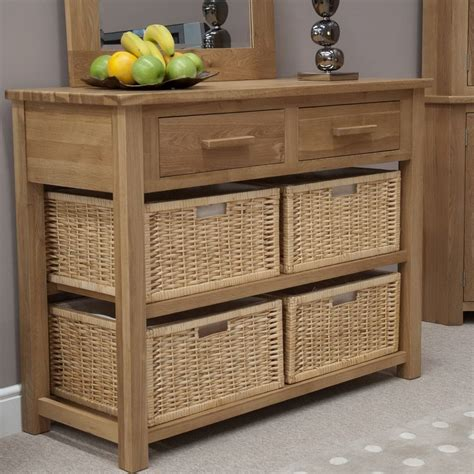 sofa table with baskets sofa table with storage baskets home furniture the