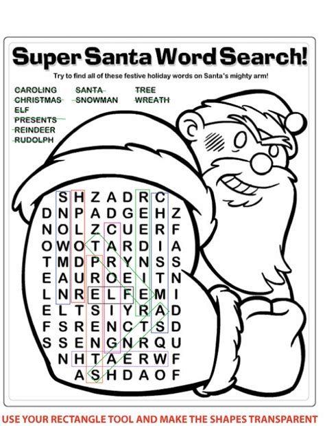 Santa Search Search Results For Wordsearch Template Calendar 2015