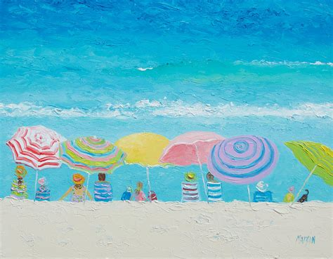 Colorful Wall Murals beach painting color of summer painting by jan matson