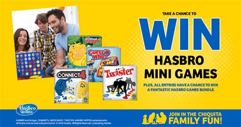 Play Instant Win Games - play chiquita family fun sweepstakes instant win game to win hasbro games