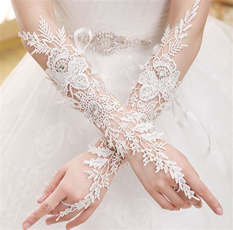 Lace Wedding Gloves new white lace bridal glove wedding pageant