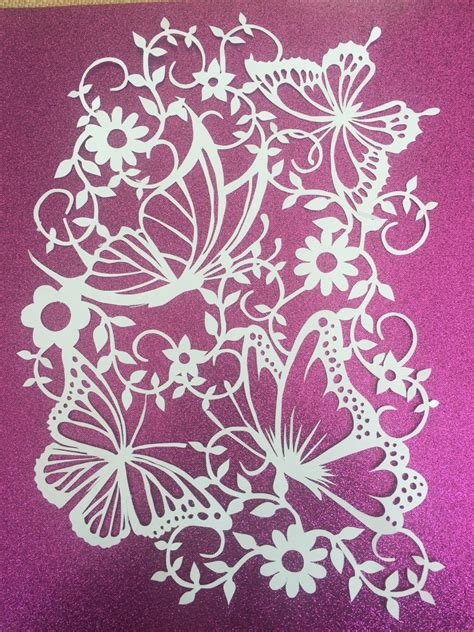 Commercial Use Butterflies Paper Cutting By Sayitwithsilhouettes Cut Templates