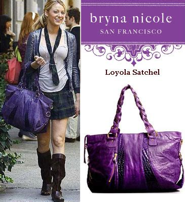 The Bryna Loyola Handbag by The Glam Guide Serena S Purple Tote Bag In Gossip