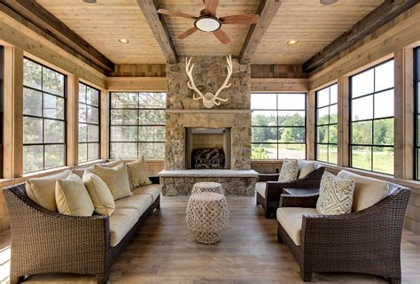 Sunroom With Fireplace by Family Home Interior Ideas Home Bunch Interior Design Ideas