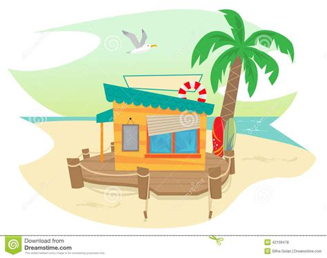 Beach House On Stilts beach shack stock vector image 42109478