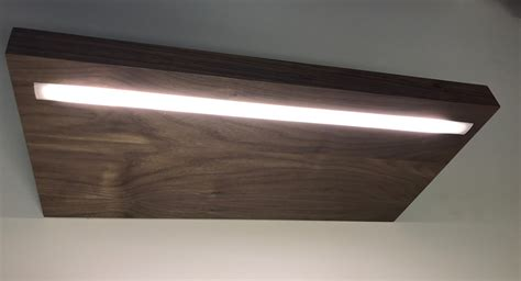 light with led lighting options for custom floating shelves