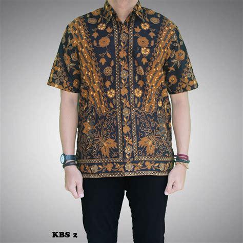 Kain Batik Sogan Sinaran 2 kemeja batik sogan pria motif sinaran kbs 2 batik prasetyo