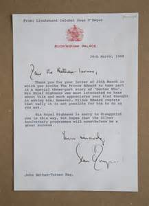 Rejection Letter Polite Ed Terminate Or Why Buckingham Palace Vetoed Prince Edward S In Doctor Who Daily Mail