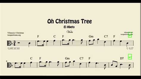 oh christmas tree sheet music for viola el abeto sheet