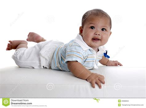 baby on couch baby boy on white sofa stock photo image 20888650