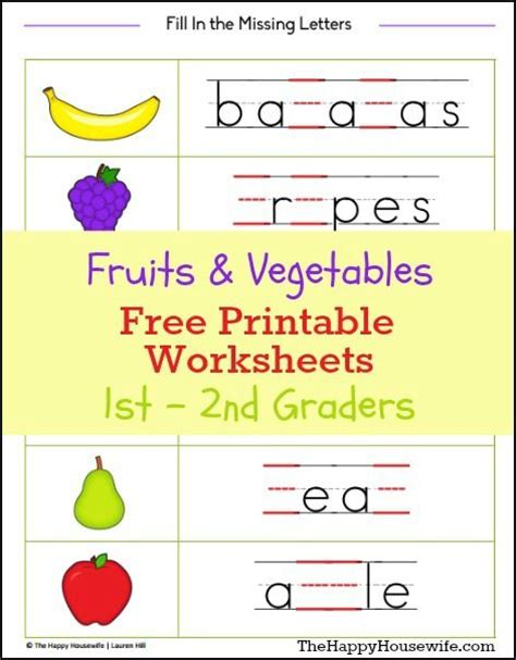Homeschooling Worksheets For Kindergarten by Fruits And Vegetables Worksheets Free Printables Free