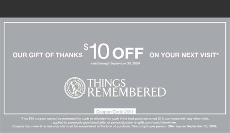 things remembered coupons promo codes february 2018