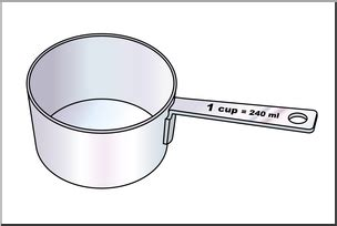 Abc Cup clip measuring cups one cup color i abcteach