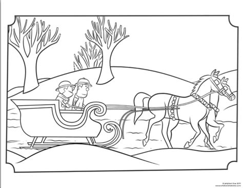 coloring pages christmas horse clive ian christmas sleigh coloring page whats in the