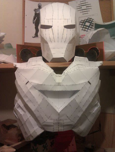 How To Make Iron Suit Out Of Paper - ironman mkvi suit in progress