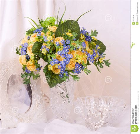 Pictures Of Beautiful Flowers In A Vase by Beautiful Flowers In A Glass Vase Royalty Free