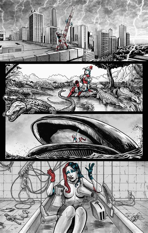 harley quinn bathtub miguel mendon 231 a comics harley quinn talent search