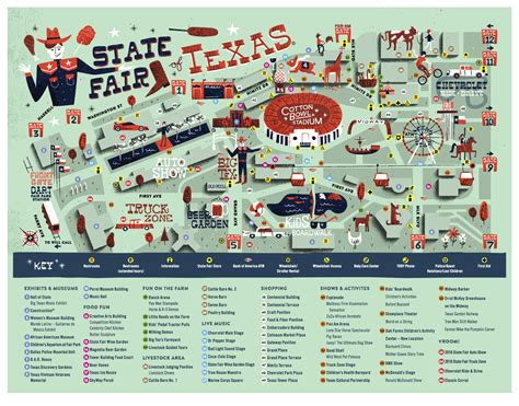 state fair of texas map texas state fair