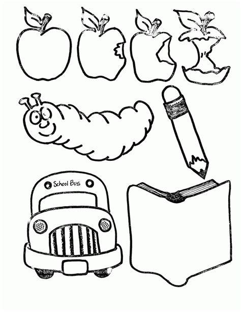 coloring pages of school stuff school supplies coloring pages coloring home