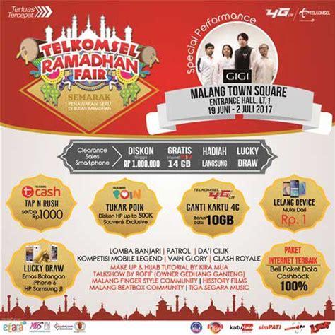 Tsel 10gb gigi meriahkan telkomsel ramadhan fair malang 2017
