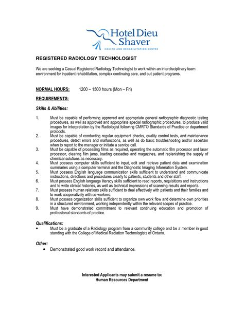 Resume Sle Of Radiologic Technologist Mri Tech Resume Templates 28 Images Radiologic Technologist Resume Sles Document Healthcare