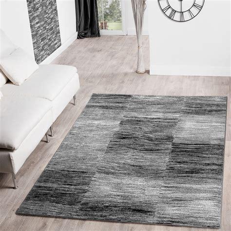 moderene teppiche moderner wohnzimmer teppich grau schwarz anthrazit meliert