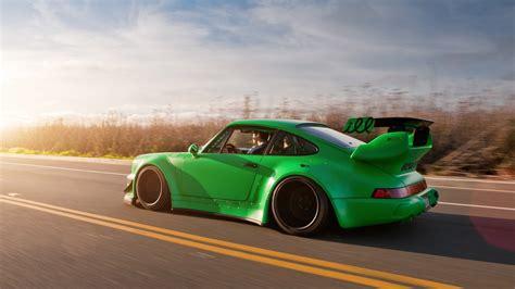 rauh welt porsche green cars sunlight tuning porsche 911 tuned rauh welt begriff