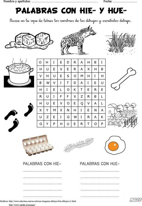 morfologia del cuento basica 8476000200 ortograf 205 a primaria palabras con hie y hue fichas para