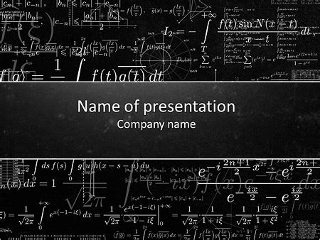 Math Presentation Template Nishihirobaraen Com Math Powerpoint Templates Free