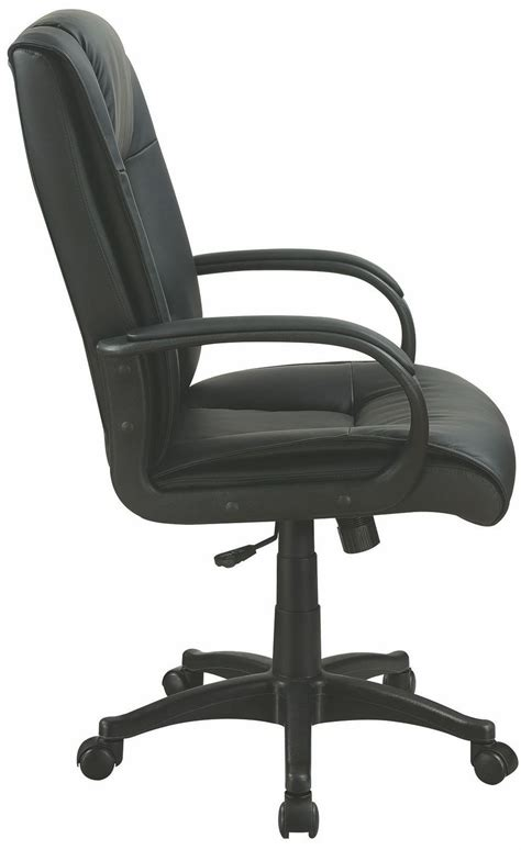 Vinyl Office Chair by Black Vinyl Office Chair 881059 Coaster Furniture