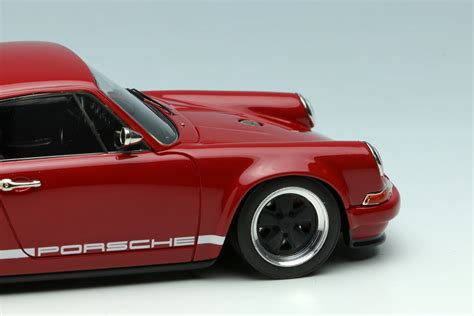singer porsche red deep red porsche singer 911 by make up co ltd 1 43