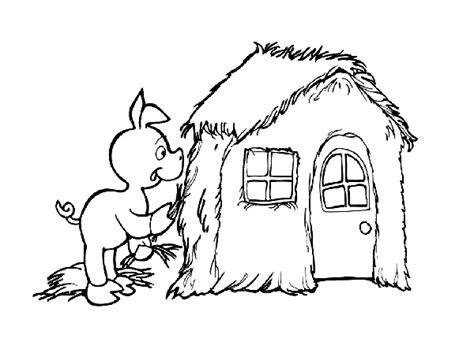 printable straw house three little pigs houses printable