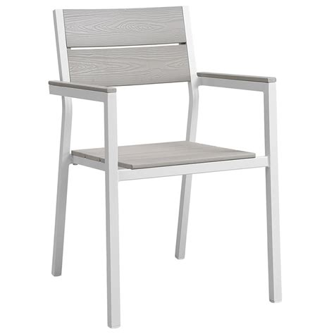 Outdoor Dining Chairs White Murano Modern White Outdoor Dining Chair Eurway Soapp Culture