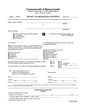 Contempt In Probate And Family Court Mba by Massachusetts Contempt Of Court Form Fill