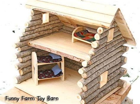 log cabin doll house log cabin dollhouse natural waldorf custom sized girl s doll house rustic