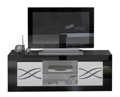 luxury tv meuble tv polaris luxury noir blanc