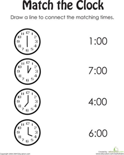 printable telling time games for kindergarten clock practice worksheet education com