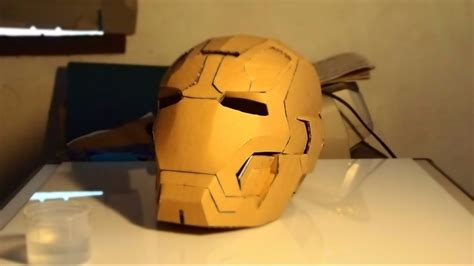 30 iron man mark 42 helmet diy 4 8 gluing supports