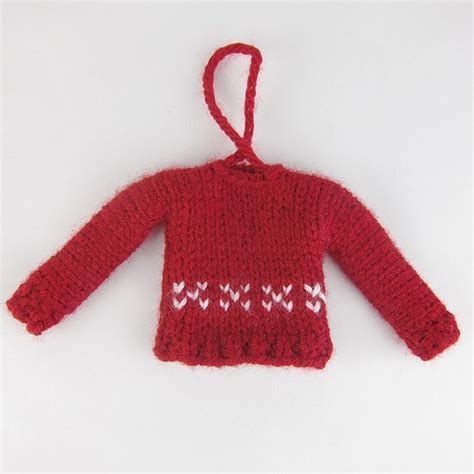 knitting pattern miniature sweater ornament free pattern tiny sweater christmas ornament knitting