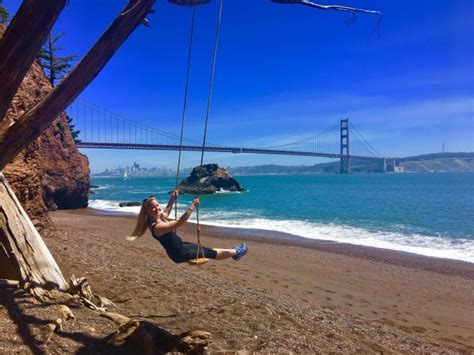 california swing kirby cove swing incredible view of golden gate bridge sf
