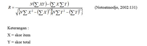 cara menghitung uji validitas butir soal cara menghitung validitas dan reliabilitas di microsoft