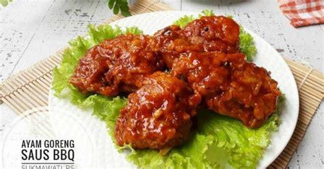 Saus Barbeque Pedas 2 resep membuat ayam goreng saus bbq crispy enak bangeeet dan gang banget kompinikmat